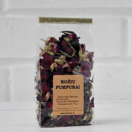 Rožių pumpurai (tamsiai raudoni) 40 g