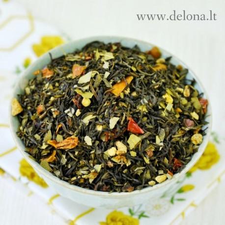 """Žalioji arbata """"IMBIERAS - EUKALIPTAS"""" 100g"""
