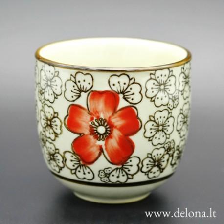 """Piala arbatai """"Raudonoji gėlelė"""" (1 vnt.)"""