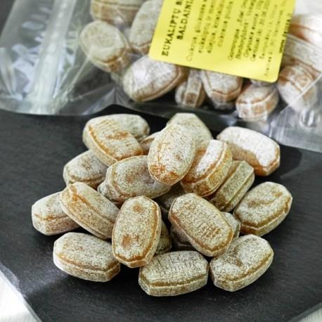 Eukaliptų skonio saldainiai 100g