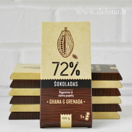 Juodasis šokoladas 72% 100 g
