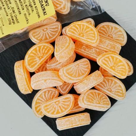 Mandarinų skonio saldainiai 100g