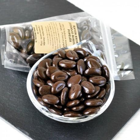 Kavos skonio juodojo šokolado pupelės 100g