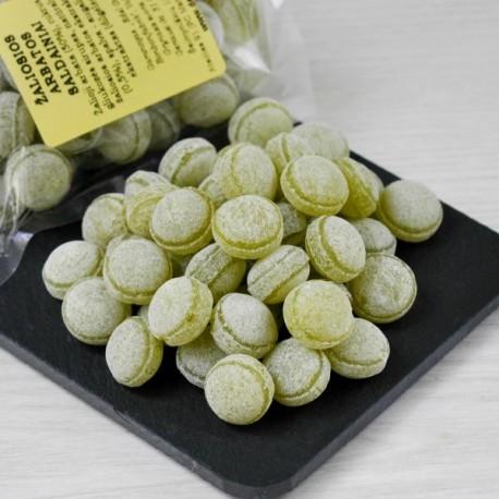 Žaliosios arbatos skonio saldainiai 100g